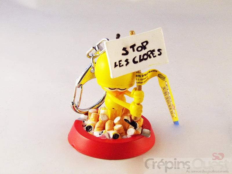 """PORTE CLES LE PIAF CENDRIER """"""""Stop les clopes"""
