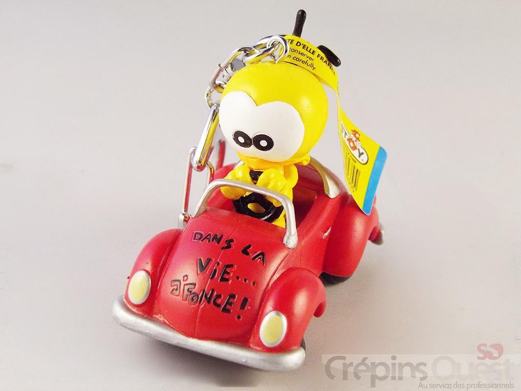 """PORTE CLES LE PIAF en voiture rouge """"""""dans la vie j'fonce!"""