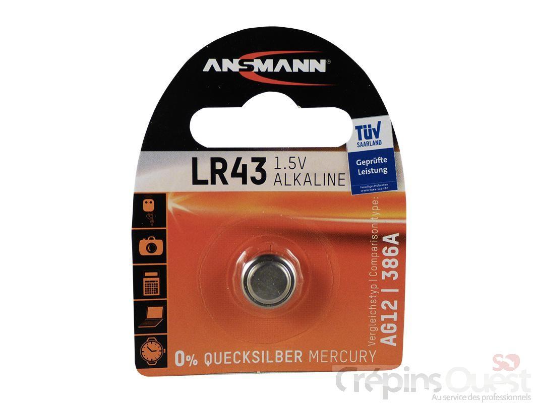 PILES LR 43 ALCALINE